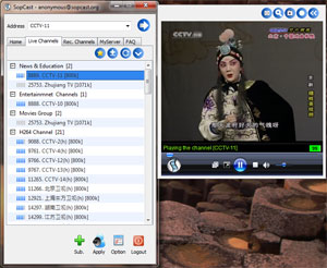 Sopcast software