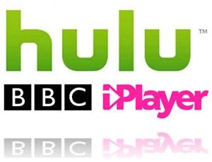 Hulu and the BBC's iPlayer logos